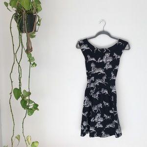 ASOS Black Sundress Cross Back Zebra Print 12 L 🦓